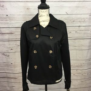 A77-Apt 9 small black button up jacket